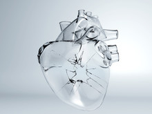 Heart Broken Glass, Ice Crack ...
