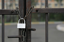 Gate Is Locked With Chain And ...