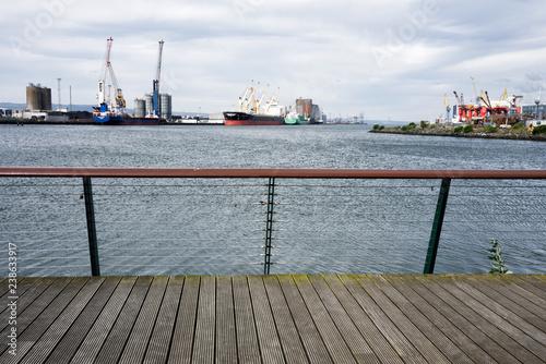 Photo  Titanic Belfast Shipyard on the Belfast Lough in Ireland