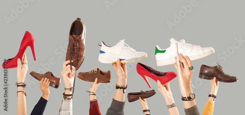 shoes advertisement  background