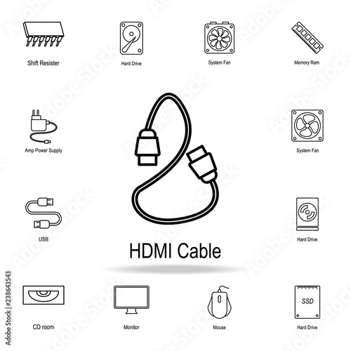 Photo  HDMI cable icon