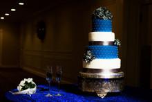 Wedding Cake Blue And White