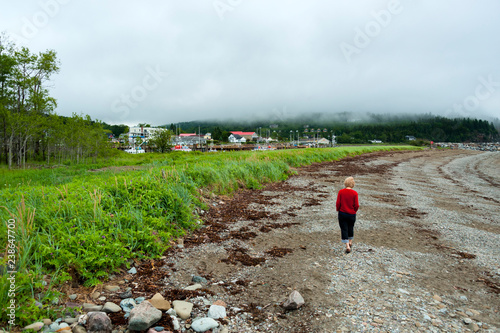 Alma village in the Albert County, New Brunswick, Canada is centered on the small delta of the Upper Salmon River Canvas Print