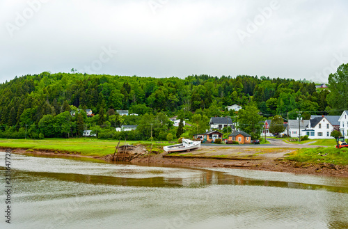 Alma village in the Albert County, New Brunswick, Canada is centered on the small delta of the Upper Salmon River.