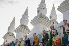 White Pagodas And Colored Arhats