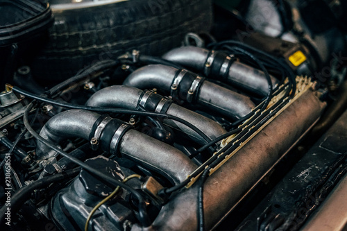 Car intake manifold with rubber and metal pipes Wallpaper Mural