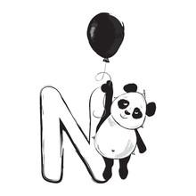 Panda Bear Cute Animal English...