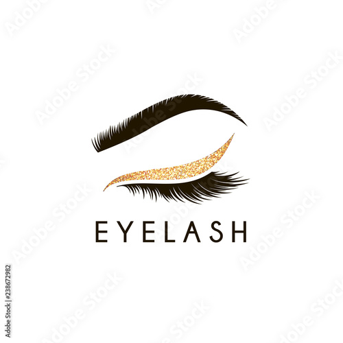 Fotografía Vector logo design template for beauty salon. Lash and Brow icon.