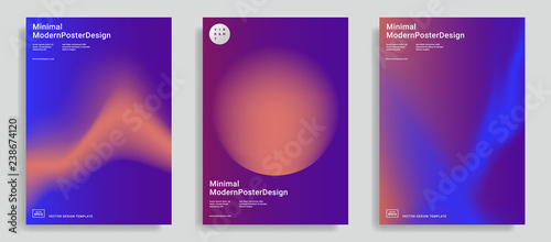 Photo  design templates with vibrant gradient shapes