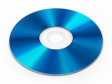 Blu-ray Disc Isolated On White...