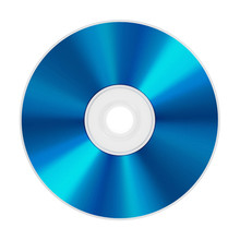 Blu-ray Disc Isolated On White Background. 3D Illustration