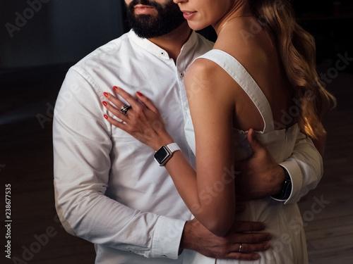 Ingelijste posters Dance School man and woman hugging