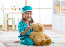 Happy Child Little Doctor Girl...