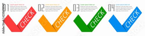 Fotografía  Check Symbol Design #Vector Graphics