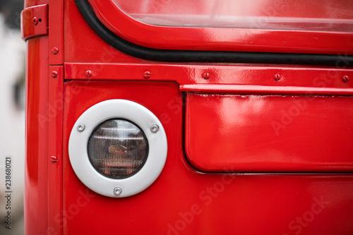 Fotografie, Tablou  Double decker bus headlight