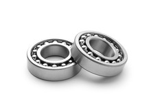 Two Metal Bearing Isolated On White Background