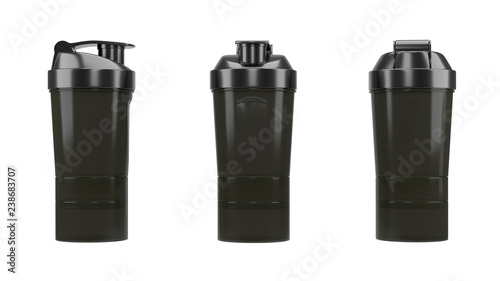 Plastic shaker isolated on white background with clipping path Fototapeta
