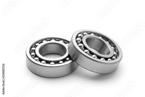 Photo Two metal bearing isolated on white background