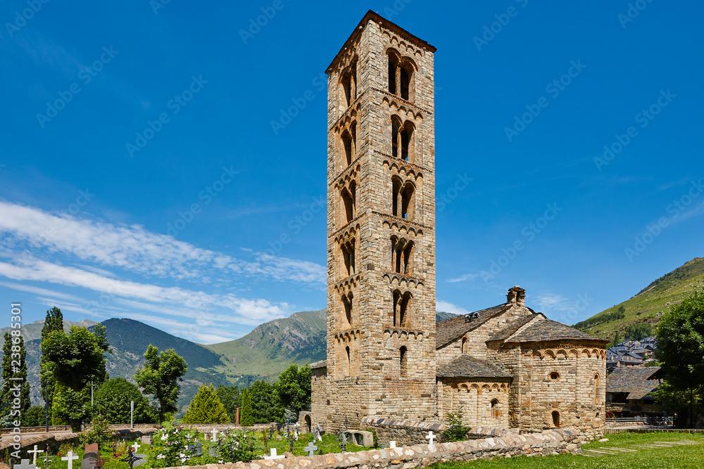 Fototapety, obrazy: Spanish romanesque. Sant Climent de Taull church. Vall de Boi. Catalonia