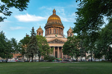 St Isaac's Cathedral, St. Petersburg City, Russia. Summer View.
