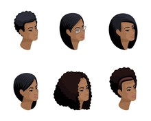 Isometric Icons Of The Head Of...