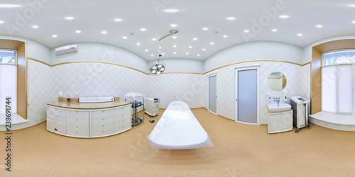 Fotografía  Panorama 360 degrees operating room in the surgical department of the clinic