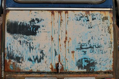 Canvas Heckklappe Auto Citroen 2CV grau beige blau schwarz altes grunge zerkratztes sch