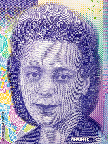 Photo  Viola Desmond portrait from Canadian money