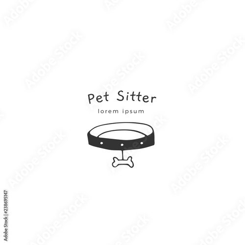 Fotografía Vector hand drawn logo template for pets related business.