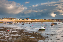 Boats At Low Tide In Skerries ...