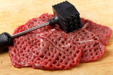Meat Mallet And Minute Steaks