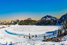 Glacier Lake At  Mount Lassen ...