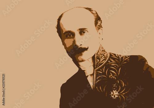 Photo Portrait d'Edmond Rostand, célèbre écrivain français du 19ème siècle, créateur d