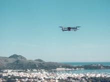Drone Flying Toward Sea