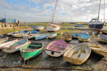 Colorful Boats At Low Tide, Lo...