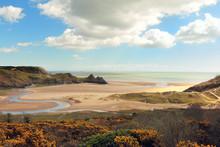 Three Cliffs Bay In Wales