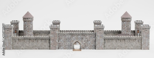Realistic 3D Render of Medieval Castle Canvas Print