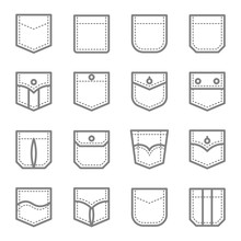 Patch Pocket Style Vector Line...