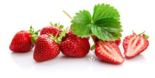 Berry Strawberry With Green Le...