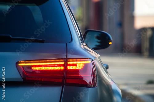 Auto Rücklicht Canvas Print