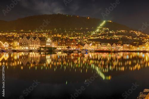Panoramaansicht von Gernen in Norwegen Tablou Canvas