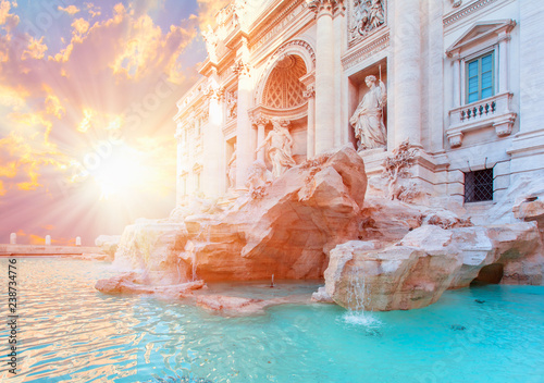 Fotografie, Obraz  Trevi Fountain (Fontana di Trevi) in Rome, Italy