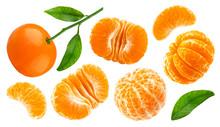 Mandarin Or Tangerine Isolated On White Background