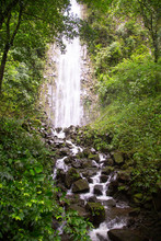 The La Fortuna Waterfall Near The Arenal National Park In Costa Rica