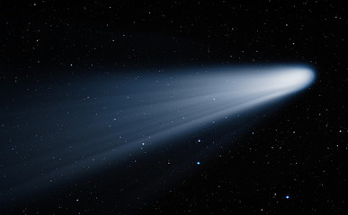 Comet on the space