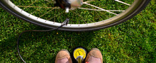E-Bike - Luft Aufpumpen