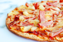 Delicious Pizza With Pineapple...