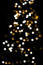 Abstract Bokeh Lights Christmas Background For Your Design.