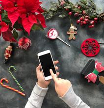 Using Smartphone At Christmas