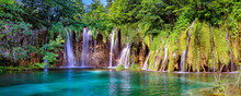 Panorama Of Plitvice Lake National Park